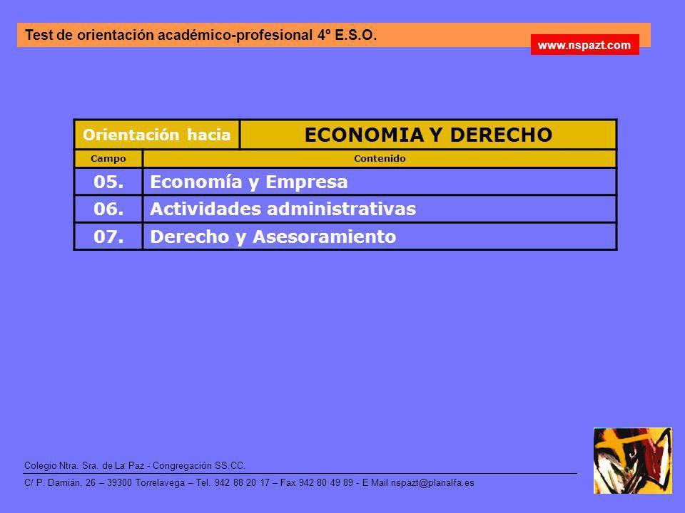 ECONOMIA Y DERECHO 05. Economía y Empresa 06.