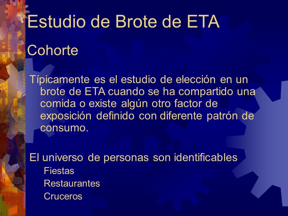 Estudio de Brote de ETA Cohorte