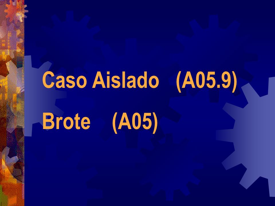 Caso Aislado (A05.9) Brote (A05)