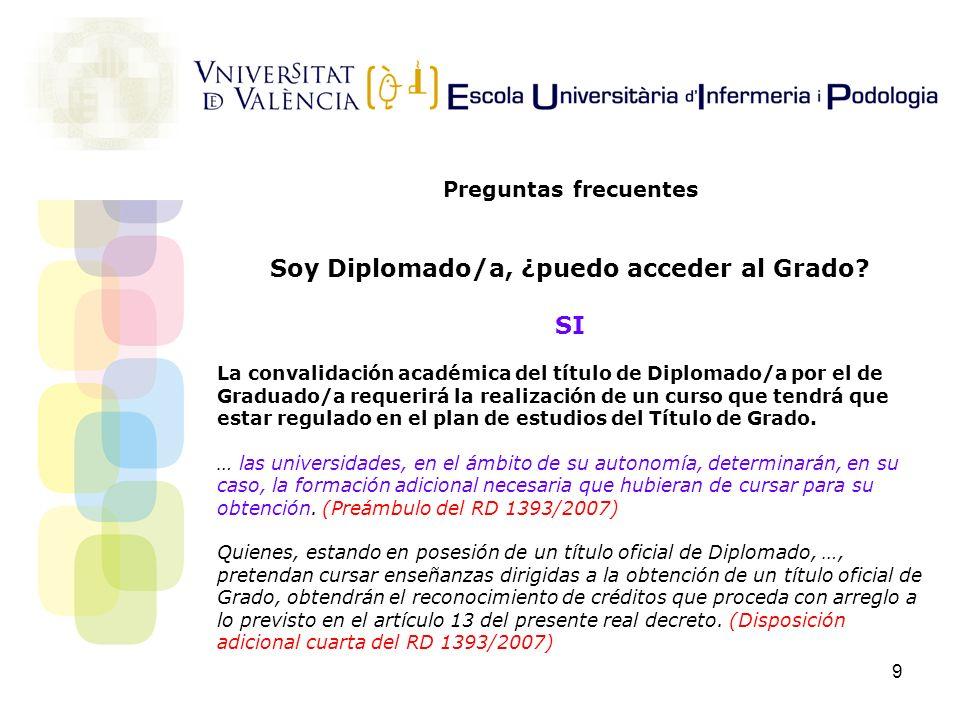 Soy Diplomado/a, ¿puedo acceder al Grado