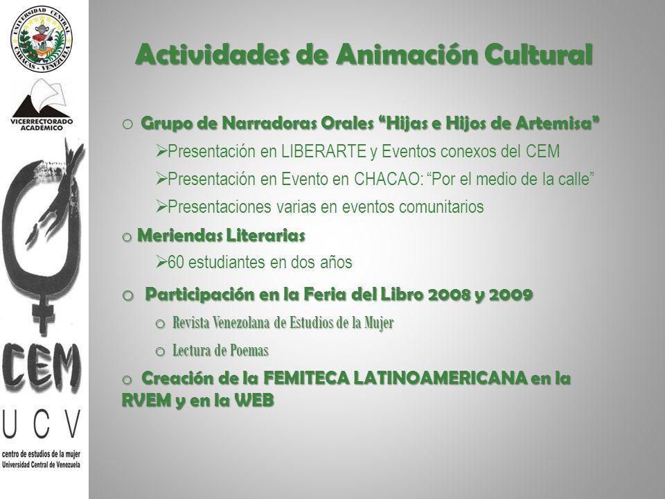 Actividades de Animación Cultural