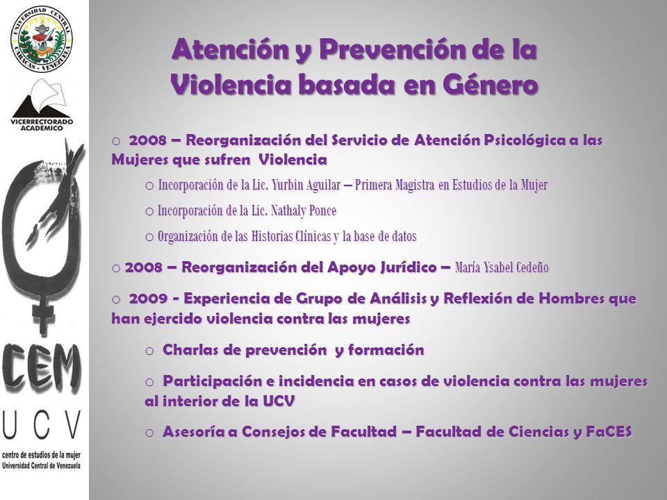 Atención y Prevención de la Violencia basada en Género