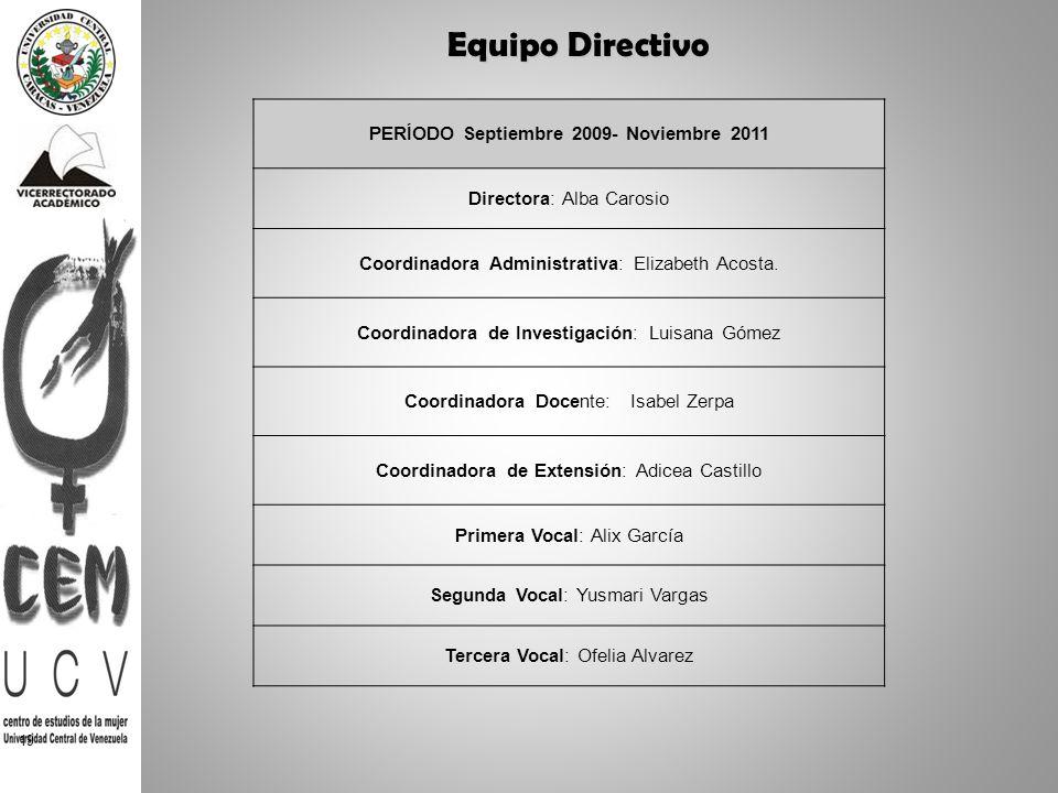 PERÍODO Septiembre 2009- Noviembre 2011