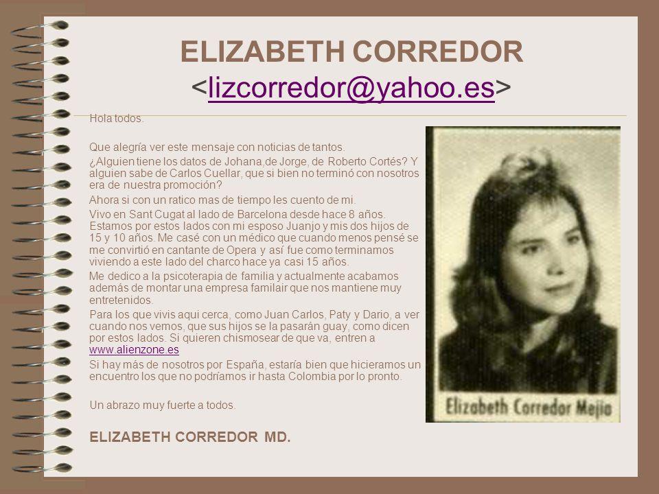 ELIZABETH CORREDOR <lizcorredor@yahoo.es>