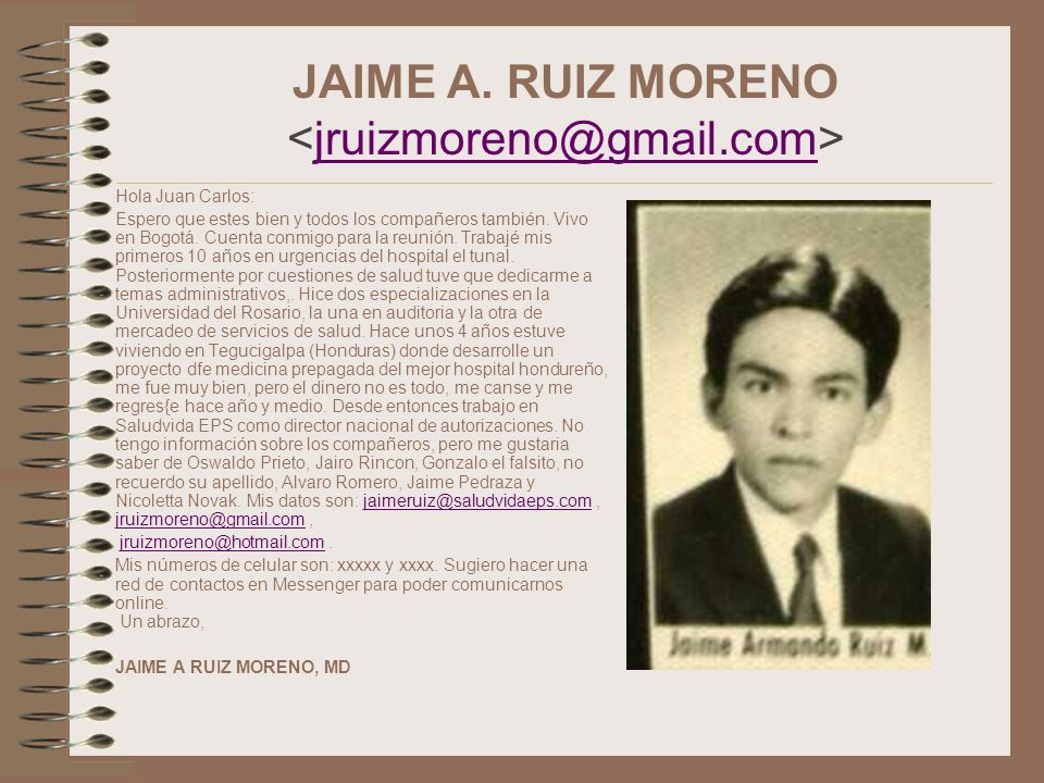 JAIME A. RUIZ MORENO <jruizmoreno@gmail.com>