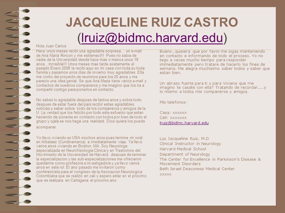 JACQUELINE RUIZ CASTRO (lruiz@bidmc.harvard.edu)