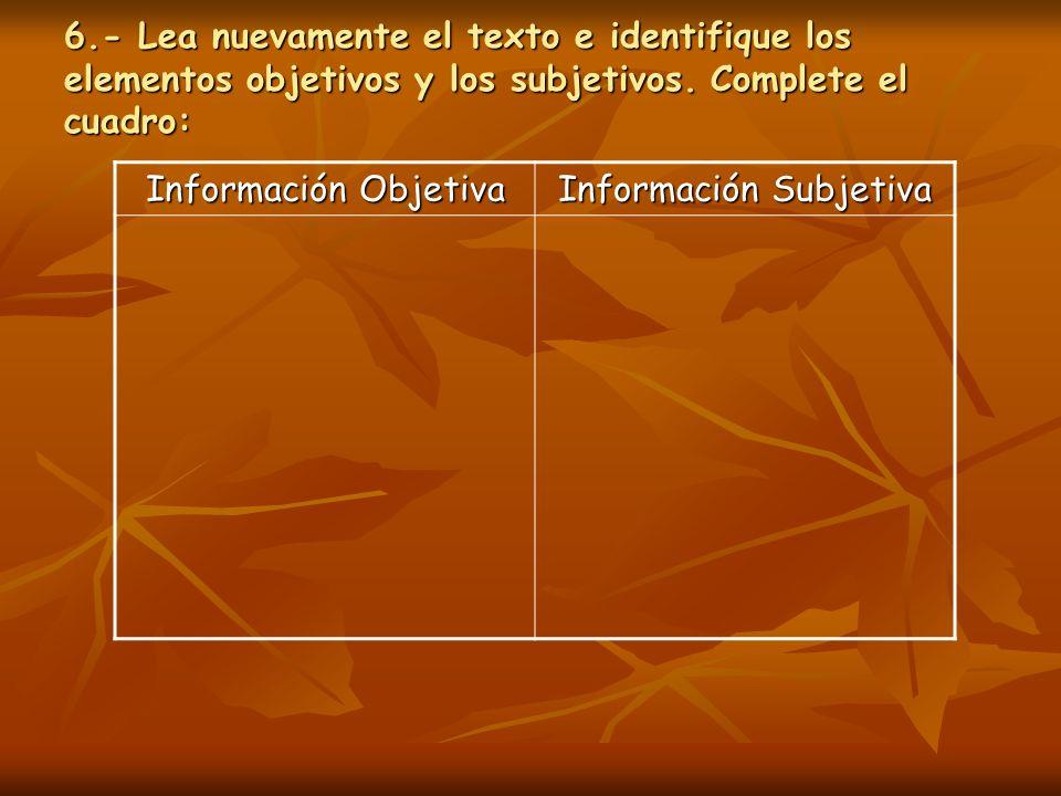 Información Subjetiva