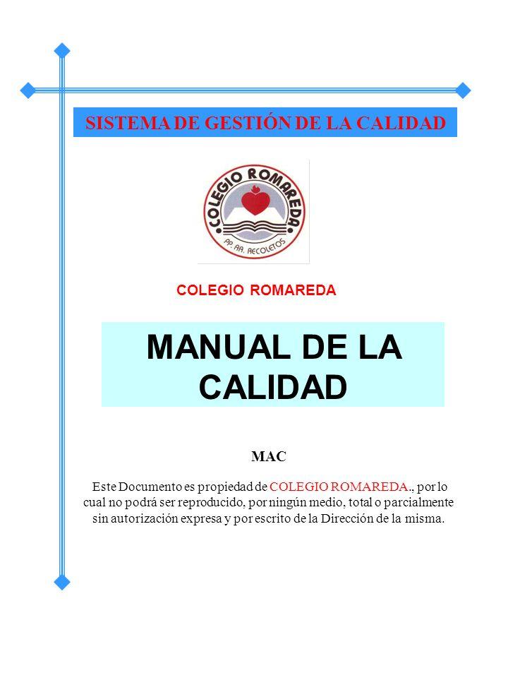 SISTEMA DE GESTIÓN DE LA CALIDAD
