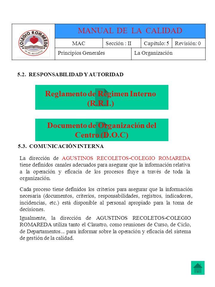 Reglamento de Régimen Interno (R.R.I.)