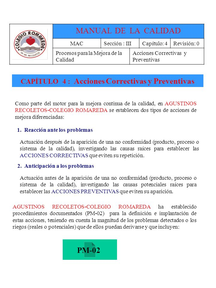 MANUAL DE LA CALIDAD PM-02