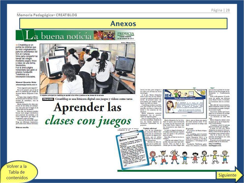 Anexos Volver a la Tabla de contenidos Siguiente Página | 28