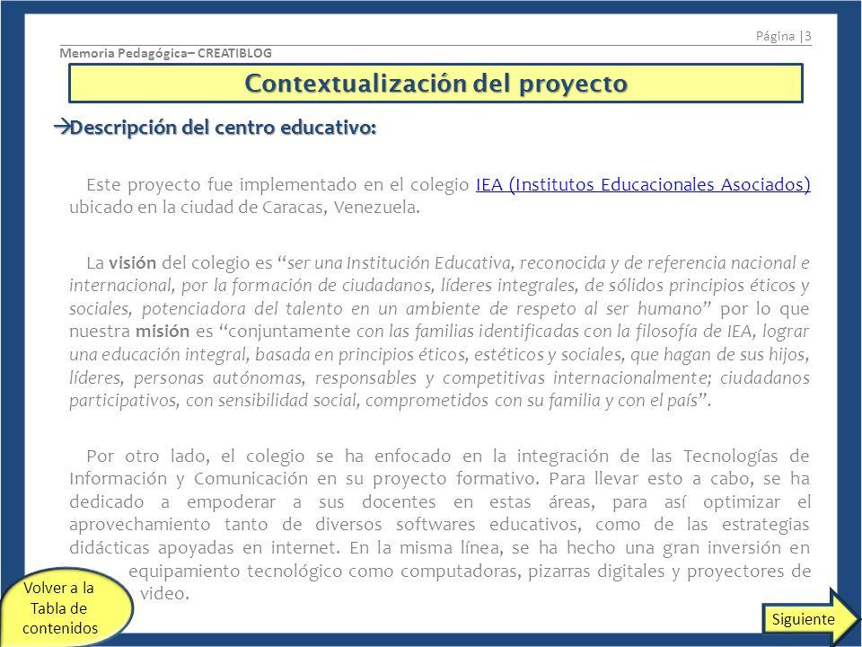 Contextualización del proyecto