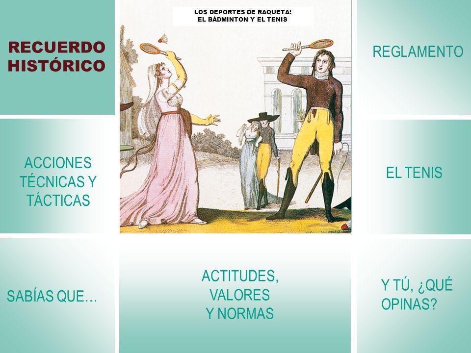 ACCIONES TÉCNICAS Y TÁCTICAS EL TENIS