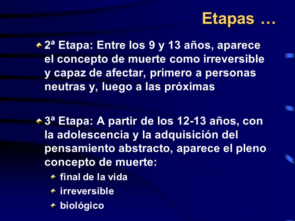 Etapas …