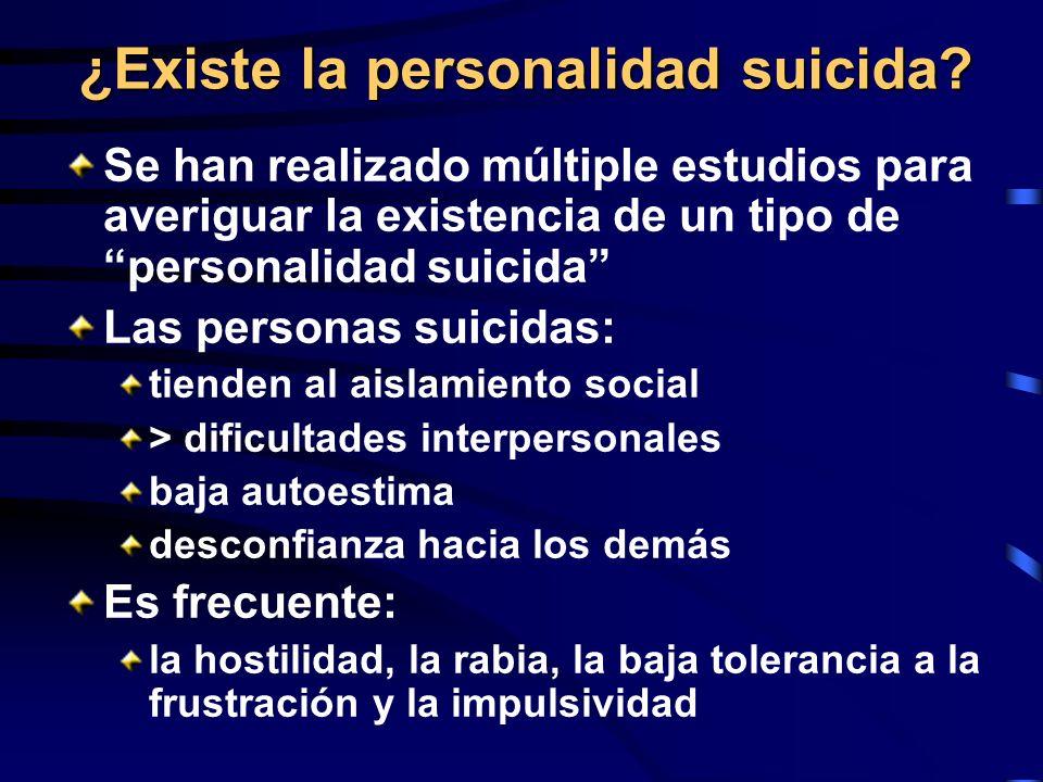 ¿Existe la personalidad suicida