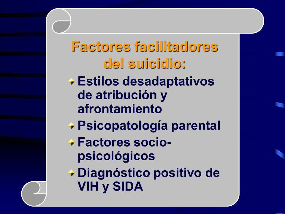 Factores facilitadores del suicidio: