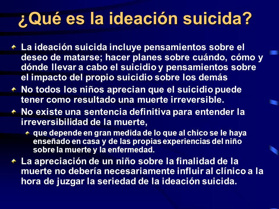 ¿Qué es la ideación suicida