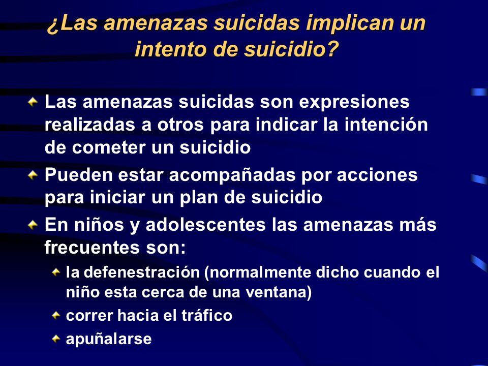 ¿Las amenazas suicidas implican un intento de suicidio