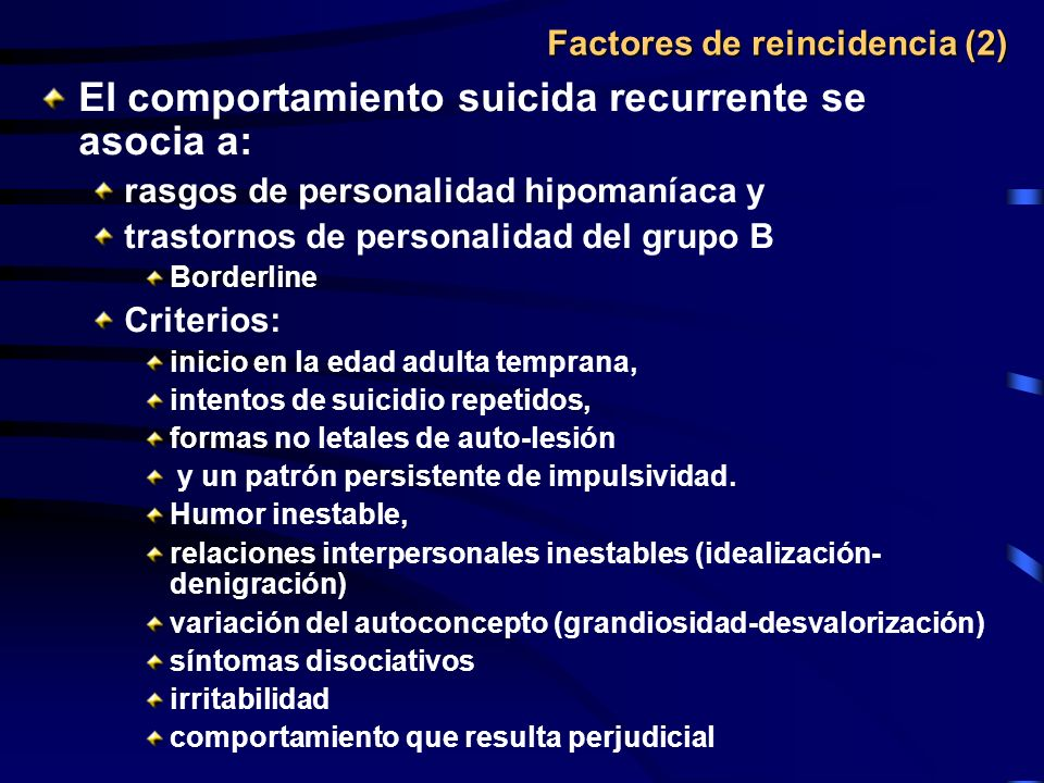 Factores de reincidencia (2)
