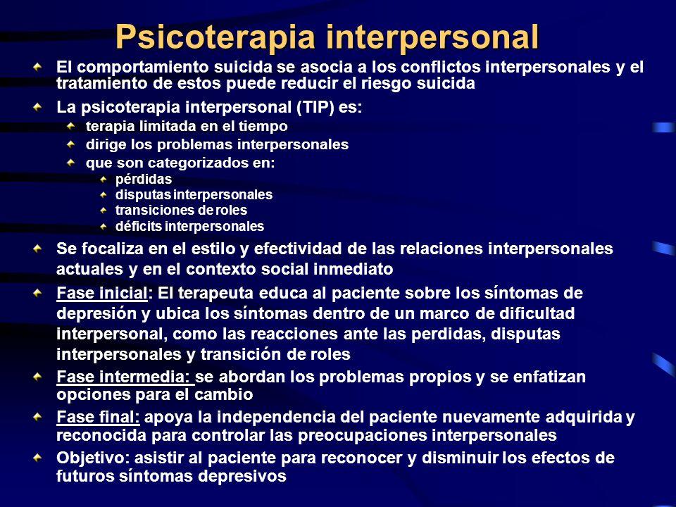 Psicoterapia interpersonal