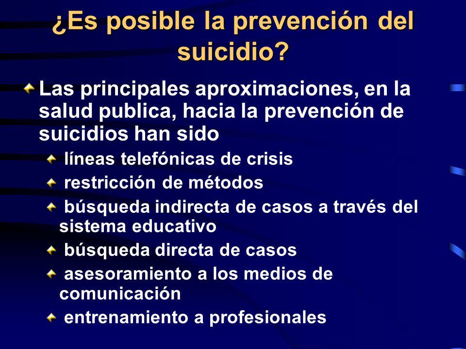 ¿Es posible la prevención del suicidio