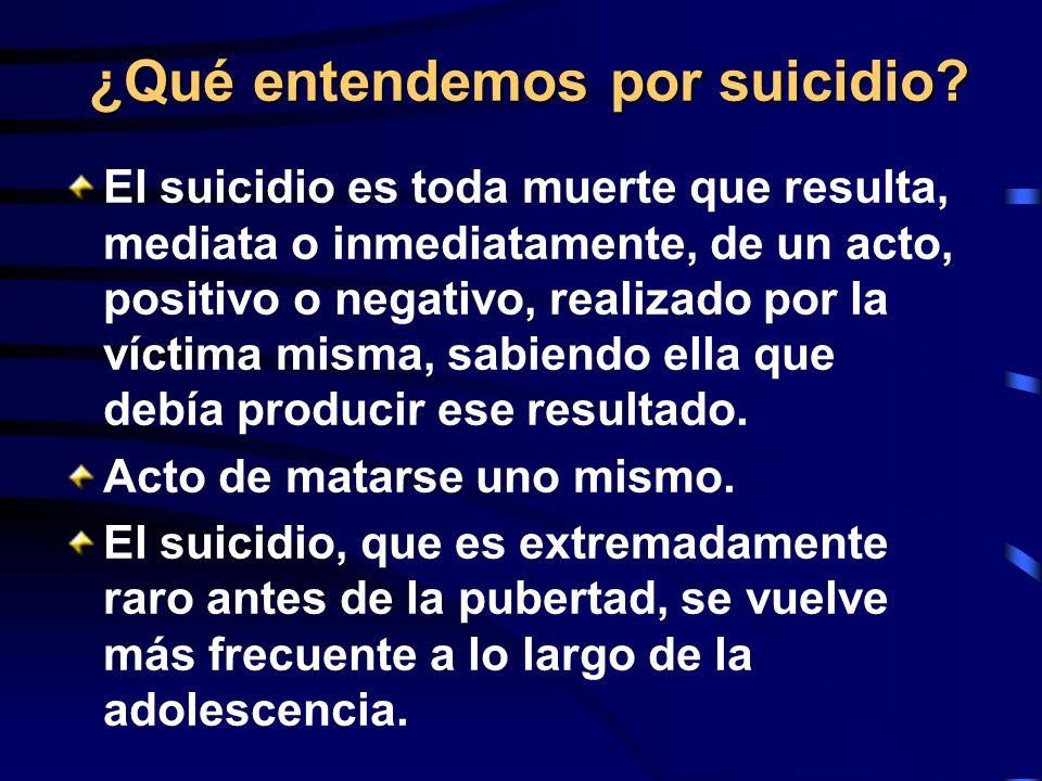 ¿Qué entendemos por suicidio