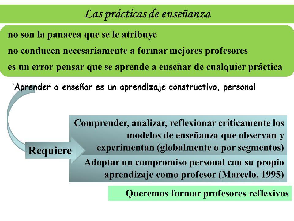 Las prácticas de enseñanza