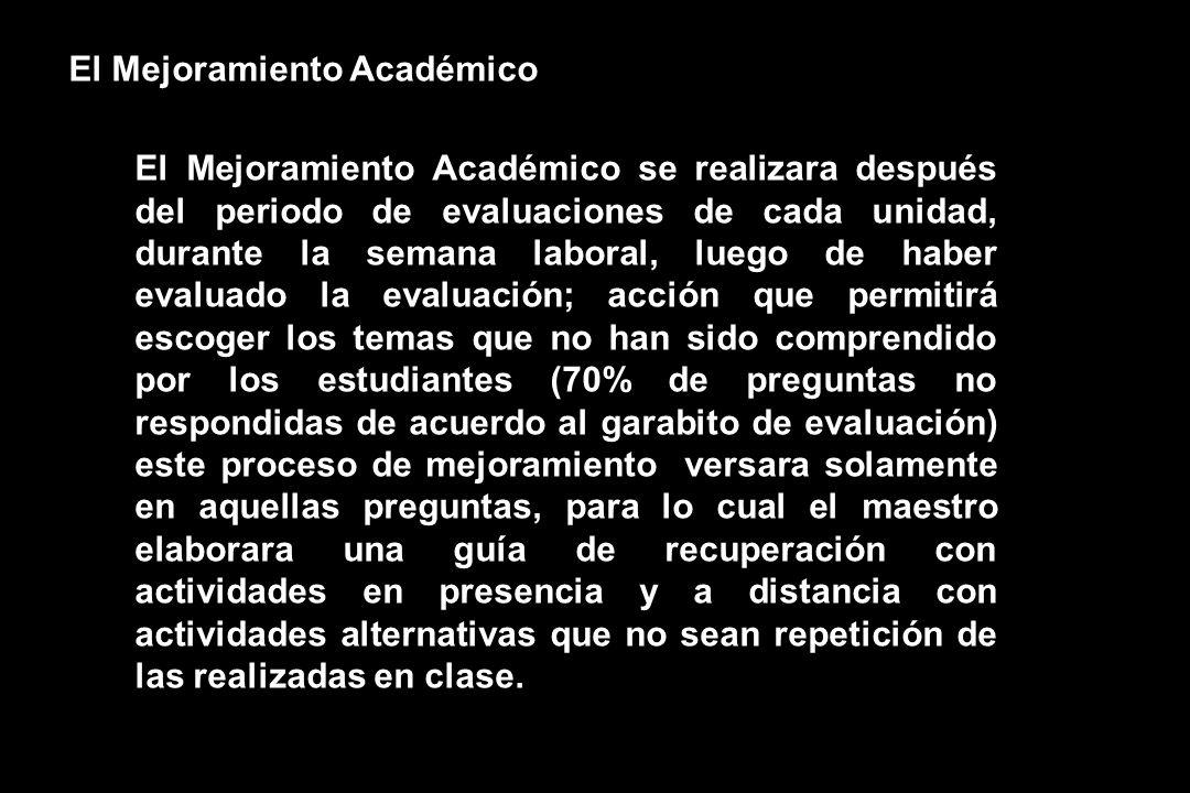 El Mejoramiento Académico