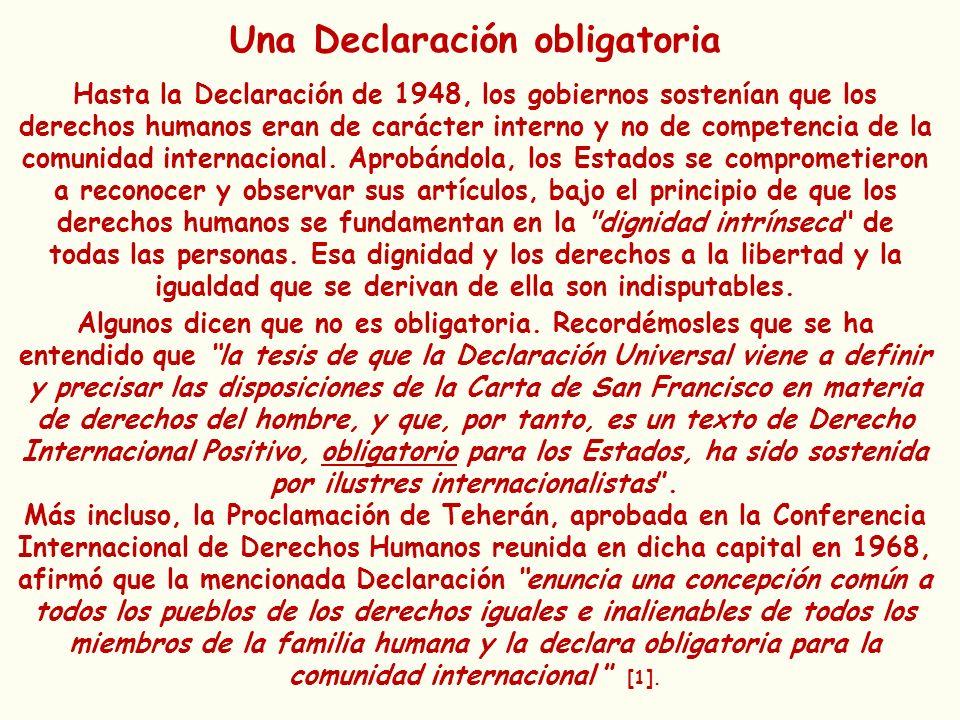 Una Declaración obligatoria