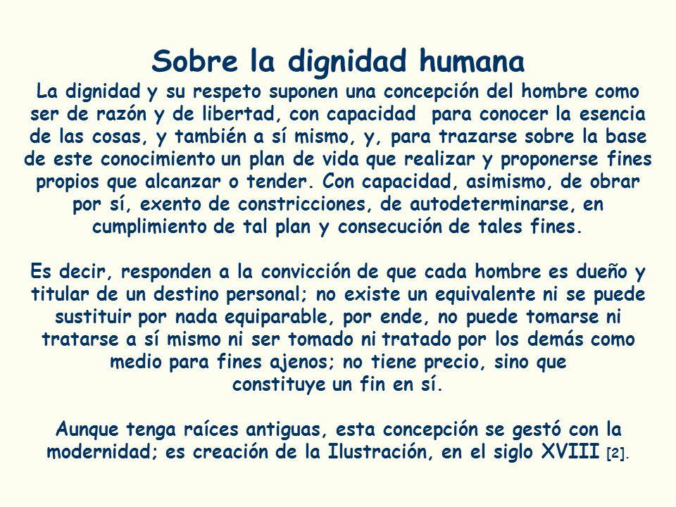 Sobre la dignidad humana
