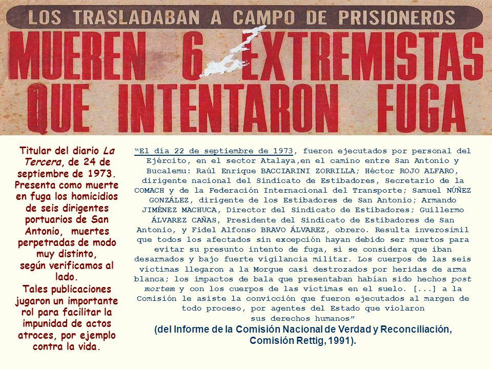 Titular del diario La Tercera, de 24 de septiembre de 1973.