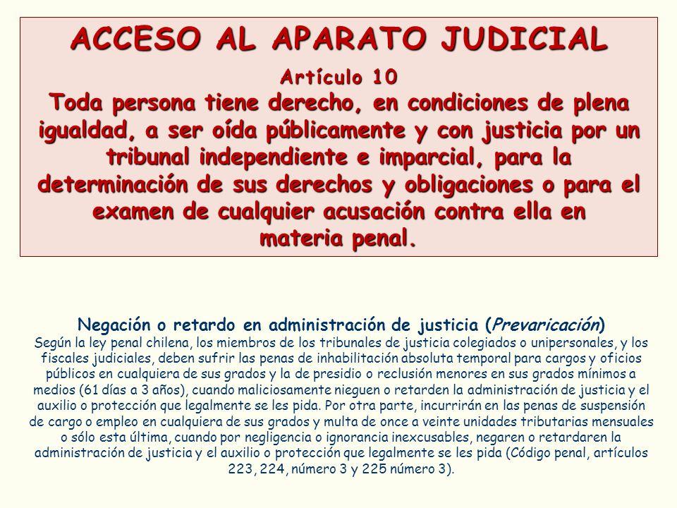 ACCESO AL APARATO JUDICIAL