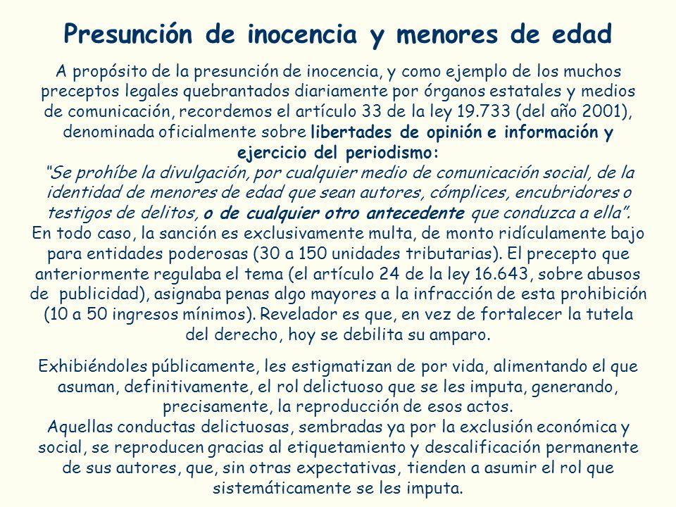 Presunción de inocencia y menores de edad