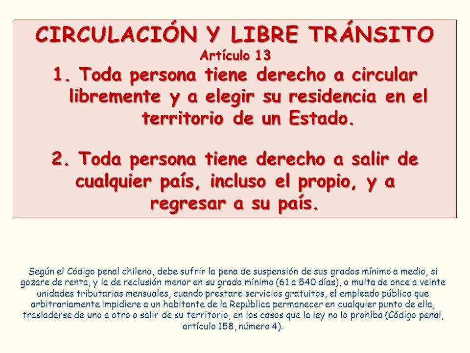 CIRCULACIÓN Y LIBRE TRÁNSITO
