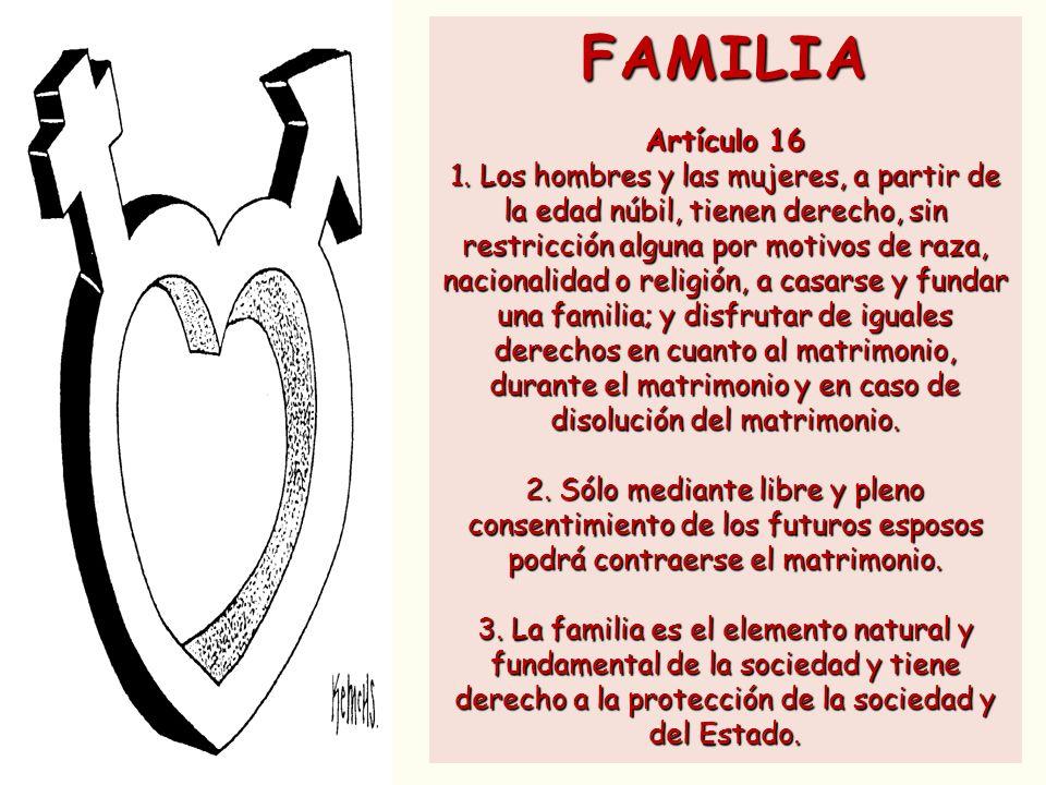 FAMILIA Artículo 16.