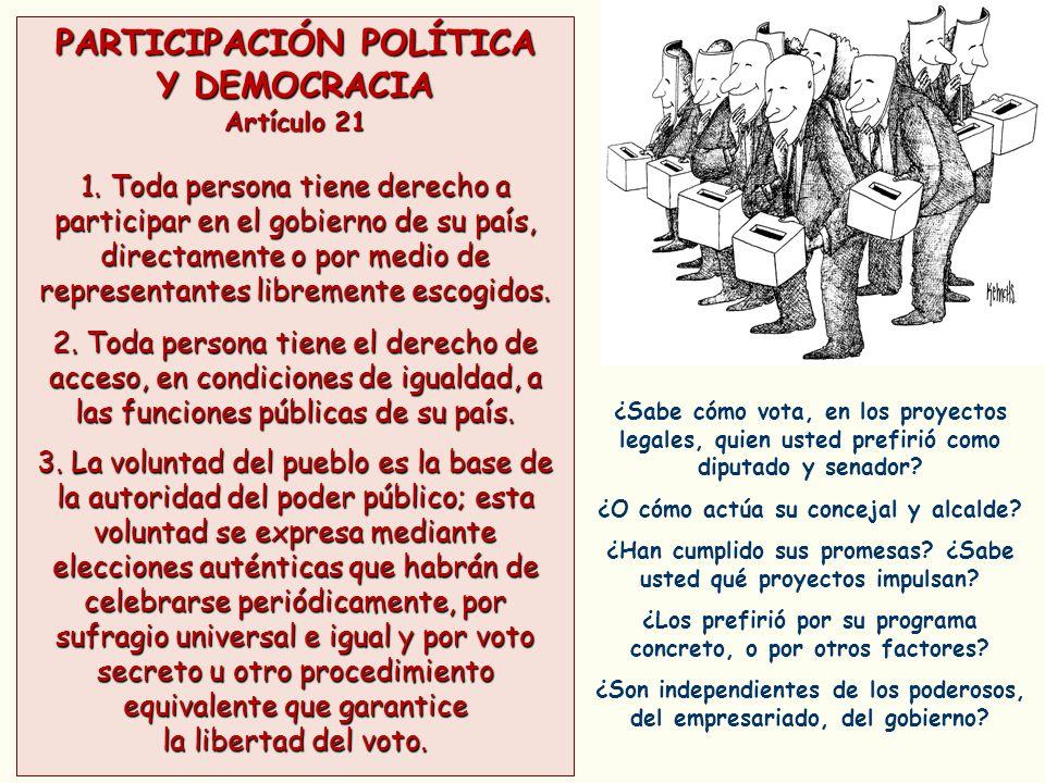 PARTICIPACIÓN POLÍTICA Y DEMOCRACIA
