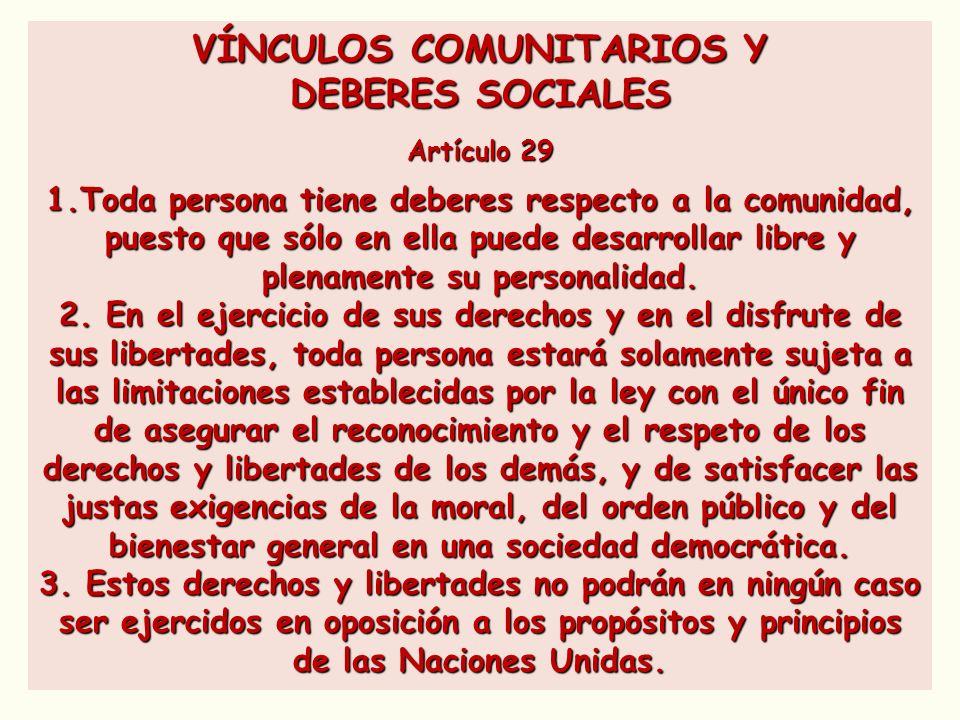 VÍNCULOS COMUNITARIOS Y
