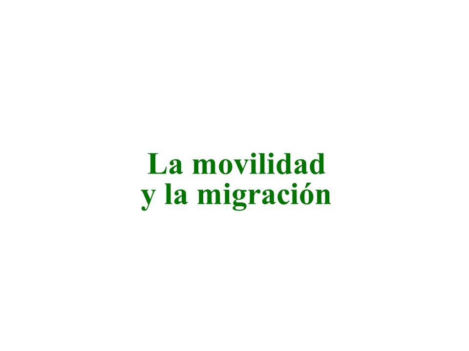 La movilidad y la migración
