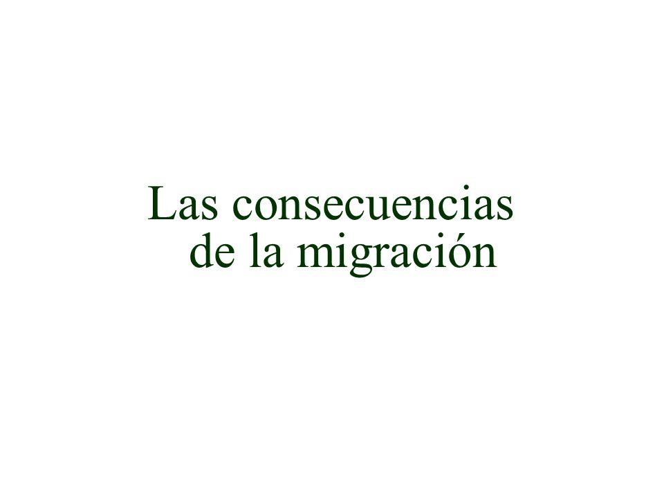 Las consecuencias de la migración