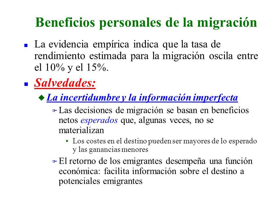 Beneficios personales de la migración