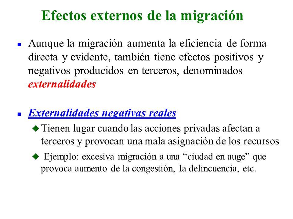 Efectos externos de la migración