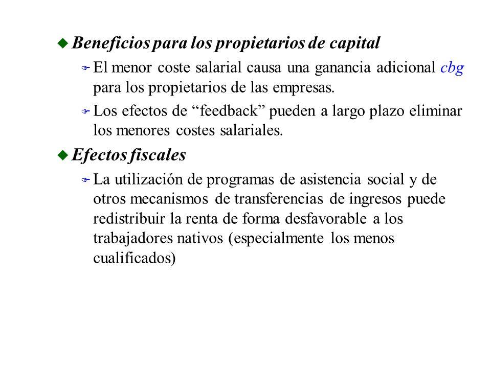 Beneficios para los propietarios de capital