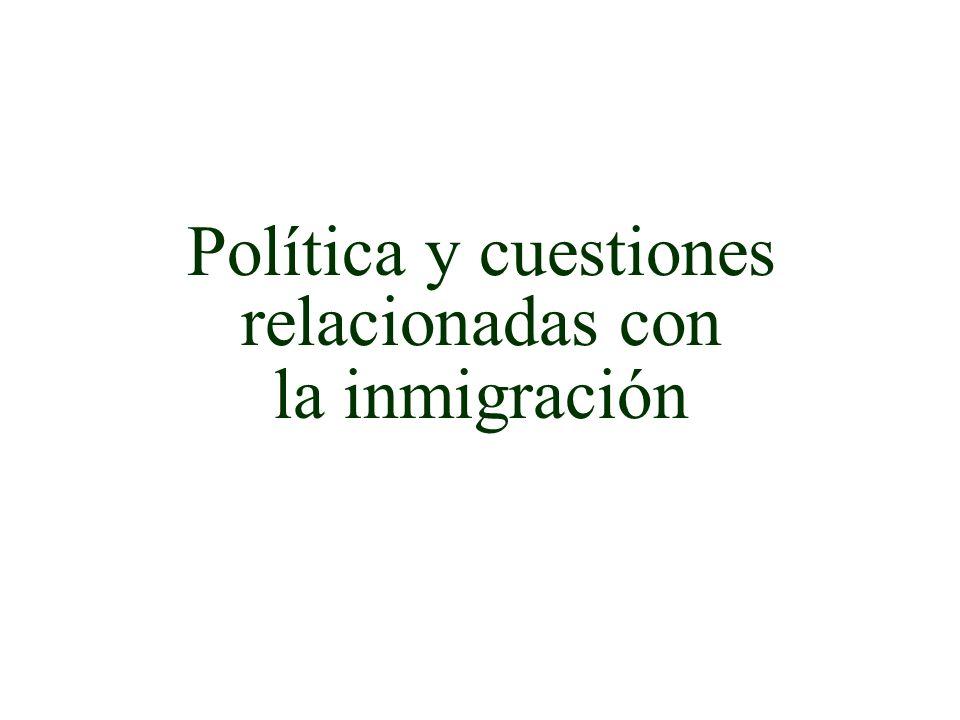 Política y cuestiones relacionadas con
