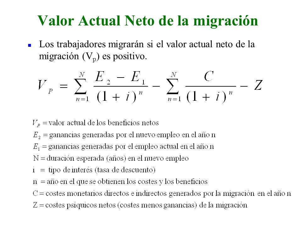 Valor Actual Neto de la migración