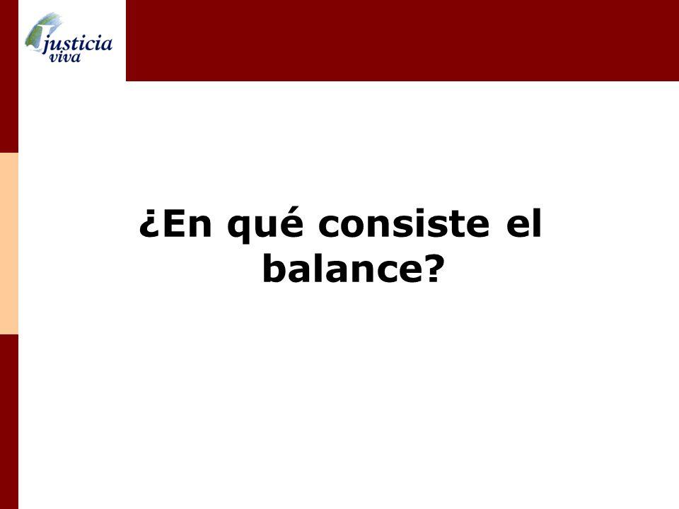 ¿En qué consiste el balance