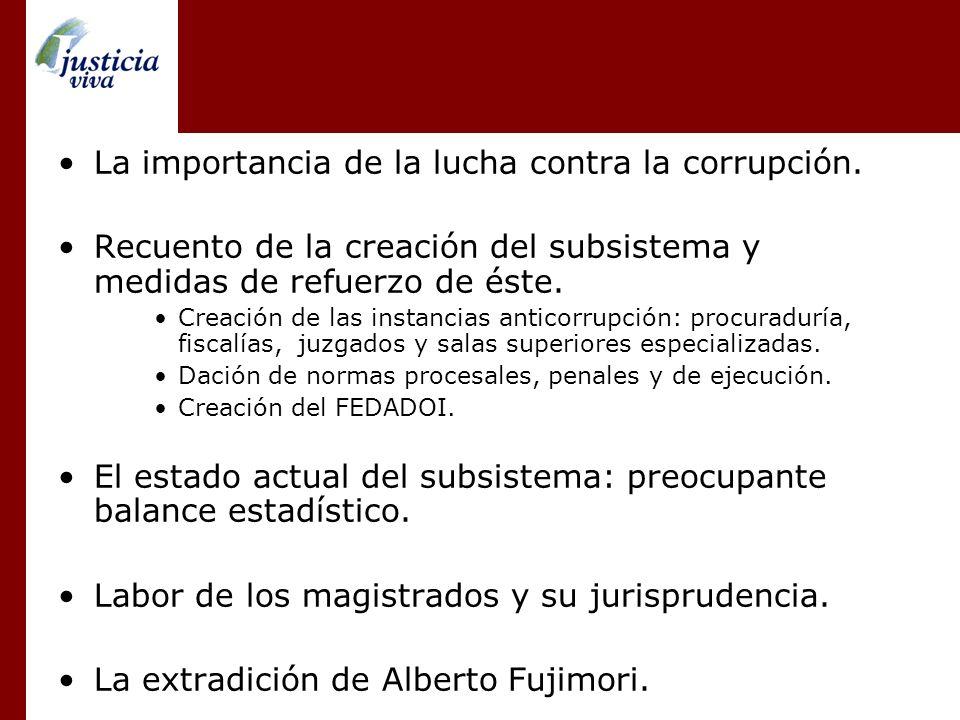 La importancia de la lucha contra la corrupción.