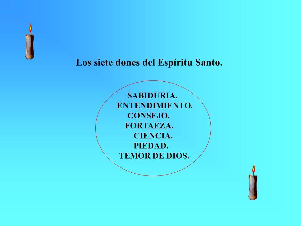 Los siete dones del Espíritu Santo. SABIDURIA. ENTENDIMIENTO. CONSEJO