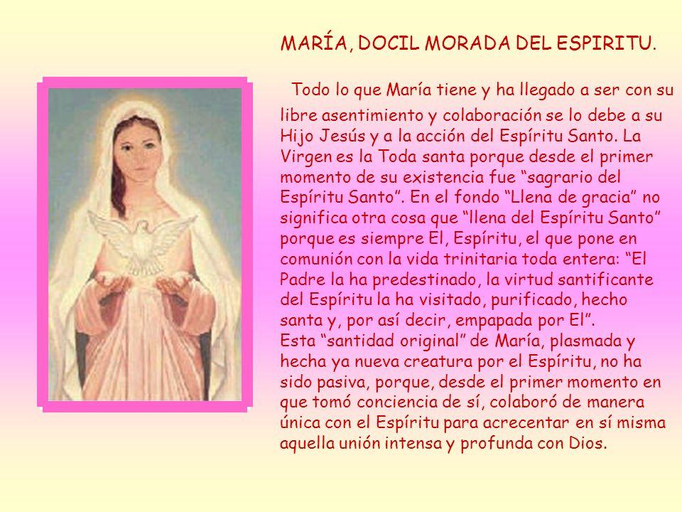 MARÍA, DOCIL MORADA DEL ESPIRITU