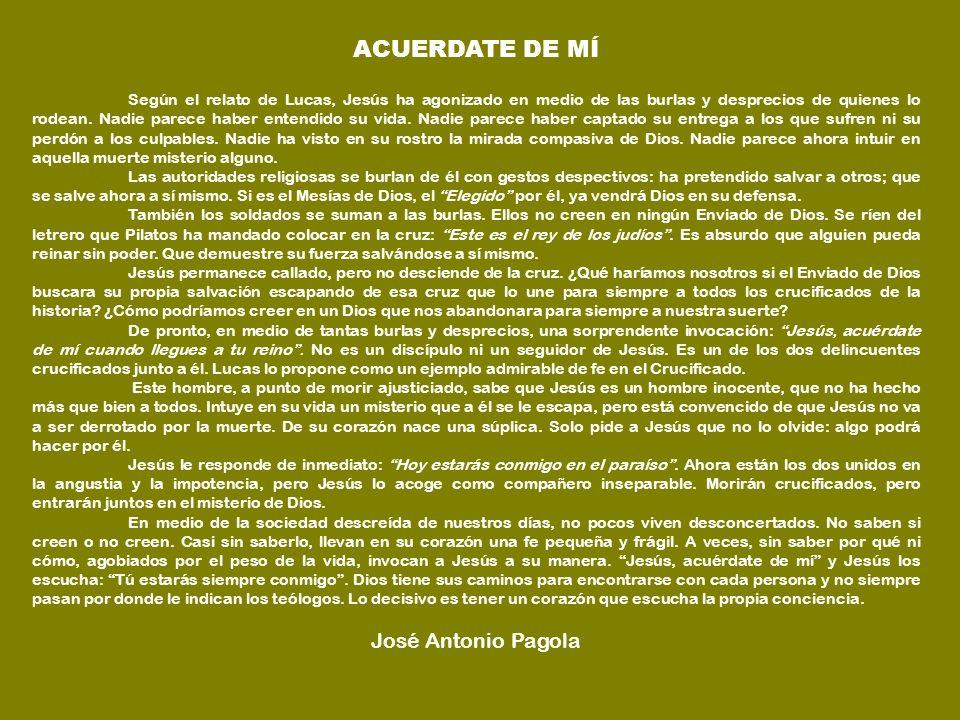 ACUERDATE DE MÍ José Antonio Pagola