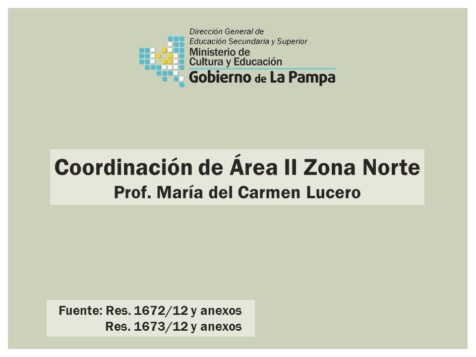 Coordinación de Área II Zona Norte